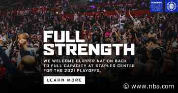 LA Clippers Return To Full Capacity At Staples Center For Game 6 Against The Utah Jazz On Friday, June 18