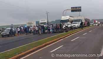 Mandaguari protesta contra o fechamento da Estrada Terra Roxa - Mandaguari Online