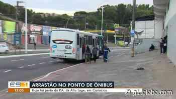 Criminosos fazem arrastão em ponto de ônibus de Cariacica, ES - G1