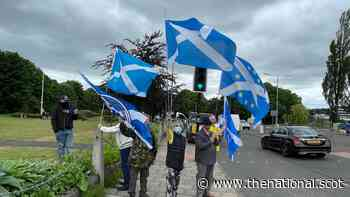 Airdrie park's Saltire or Union flag row sees Yes activists 'verbally abused' - The National