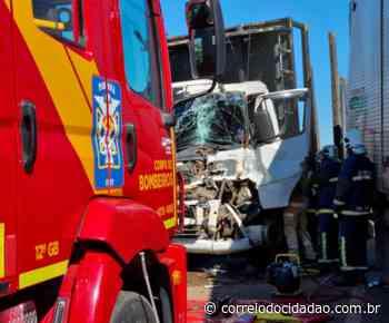Acidente entre três caminhões deixa feridos na BR 277, em Guarapuava – Correio do Cidadão - Correio do CIdadão