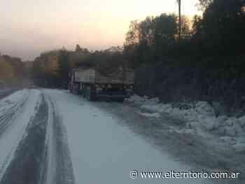 Caraguatay: camión cargado de harina despistó y perdió gran parte del cargamento - EL TERRITORIO