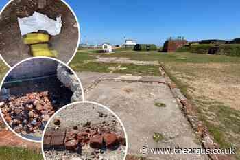 Shoreham Fort being destroyed by persistent vandal problem