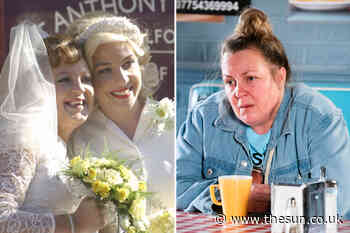 EastEnders' Lorraine Stanley unrecognisable as Big Mo in vintage flashback episode... - The Sun