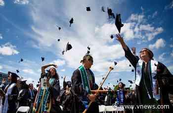 Dartmouth seniors shed masks to celebrate graduation - Valley News