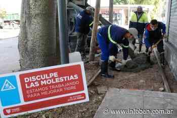 En Ricardo Rojas, el Municipio de Tigre avanza con la construcción de veredas vecinales - InfoBan