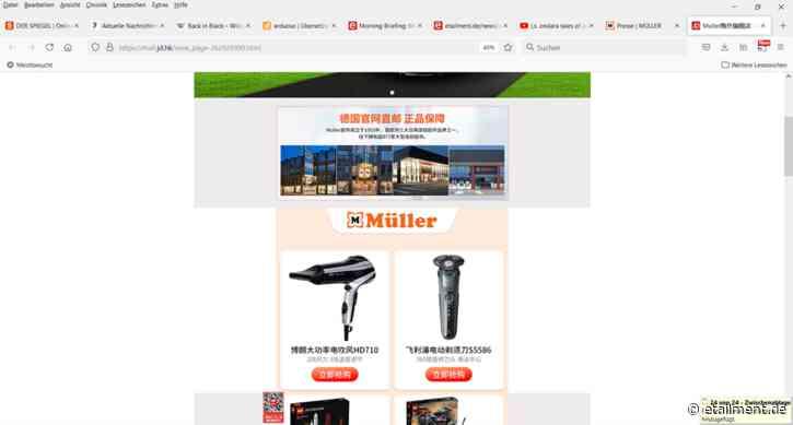 Morning Briefing: Bike24, Müller in China, Lieferando im Stadion, US-Ketten, Amazon Fresh, Digital jetzt, Klarna, Bergfreude.de, Öko-Verpackung