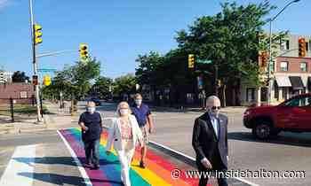 'Treated with kindness' Town of Oakville unveils first rainbow crosswalk celebrating diversity and inclusion - InsideHalton.com