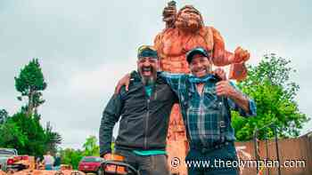 Wood business, chainsaw artist collaborate to create 17-foot sasquatch in Oakville - The Olympian