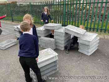 'Simple and mundane' crate donation helps revamp primary school playground
