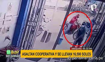 Cajamarca: delincuentes armados roban S/.16590 de una financiera - Panamericana Televisión