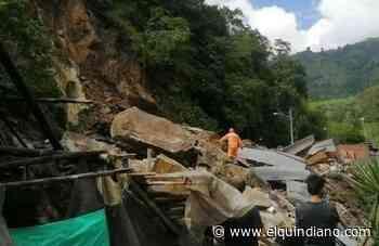 Tres lesionados en emergencia de Cajamarca Dos viviendas fueron sepultadas por el desprendimiento de rocas - El Quindiano S.A.S.