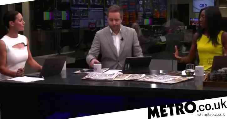 GB News presenter Nana Akua brands co-host Darren McCaffrey a 'hypocrite' in heated Covid vaccine debate