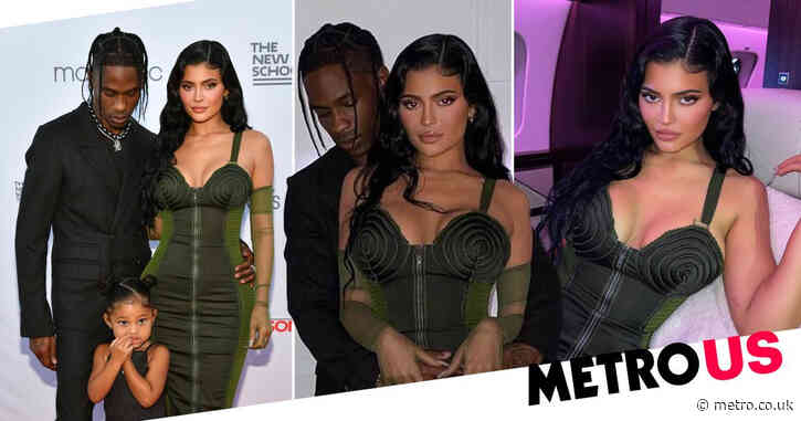 Kylie Jenner and Travis Scott appear to confirm romance as they cuddle in New York and he calls her 'wifey'