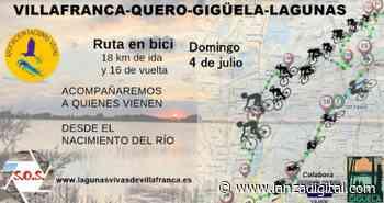 Lagunas Vivas organiza una ruta ciclista para conocer la realidad y problemas del río Gigüela, en julio - Lanza Digital - Lanza Digital