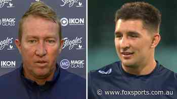 Act like a man': Roosters coach Trent Robinson sprays 'lad' Victor Radley over flight incident