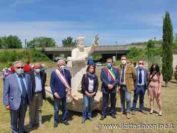 Monteriggioni: inaugurata la rotonda del pellegrino - Il Cittadino Online - Il Cittadino on line