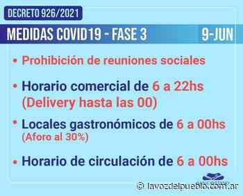 San Cayetano en fase 3: se prohíben las reuniones sociales - La Voz del Pueblo