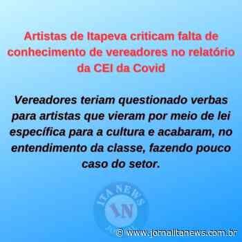 Artistas de Itapeva criticam falta de conhecimento de vereadores no relatório da CEI da Covid - Jornal Ita News