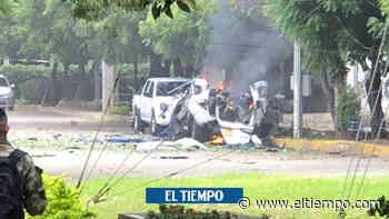 Primeras imágenes de las explosiones de carros en brigada de Cúcuta - El Tiempo