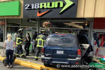 Driver crashes through front window of Victoria running store in Fairfield – Saanich News - Saanich News