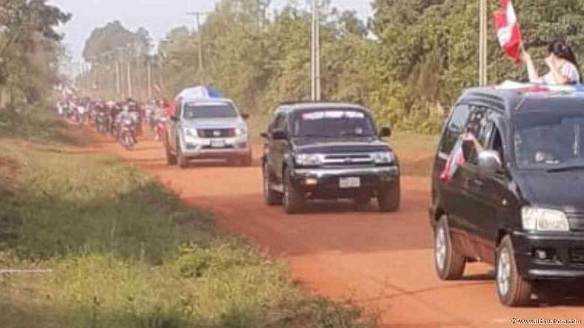 Multitudinaria caravana pro asfaltado en General Delgado - ÚltimaHora.com