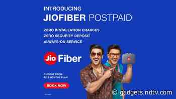 JioFiber Postpaid Plans to Launch Soon With No Installation or Security Deposit Charges Starting at Rs. 399