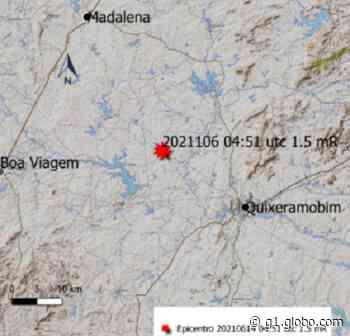 Quixeramobim tem tremor de terra de magnitude 1,5 - G1