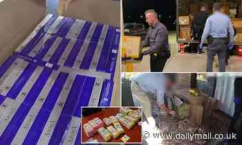 'Tobacco baron trade ring' smashed as raids find $25million in home-grown tobacco, cigarettes, vapes