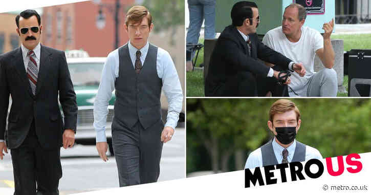 Justin Theroux and Domhnall Gleeson spotted on the set of Watergate drama The White House Plumbers