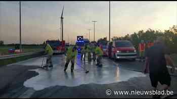 Wegenwerkers zwaargewond na aanrijding op E34