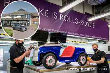 Rolls Royce service car used by young patients at hospital