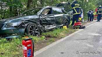 Feuerwehr Herdecke: Zwei Verletzte auf Wittener Landstraße - Westfalenpost