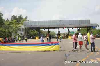 Bloqueo en Sabanagrande por protesta de comunidad - EL HERALDO