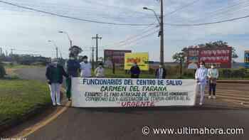 El personal de Salud de Carmen del Paraná cierra ruta - ÚltimaHora.com