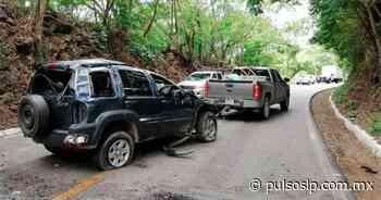 Dos accidentes sobre la carretera libre Valles-Rioverde; un lesionado - Pulso Diario de San Luis