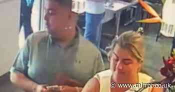Couple who yelled at police for saving dogs in hot car filmed 'stealing' at cafe