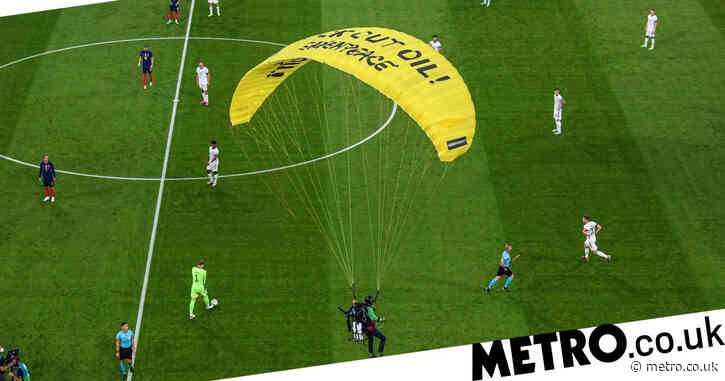 Two spectators injured in botched Greenpeace stunt at Euro 2020 game