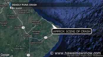 Moped rider killed in Puna crash marks Hawaii Island's 12th traffic fatality - Hawaii News Now