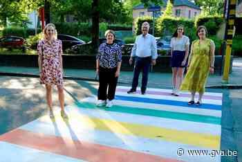 Ook Temse heeft nu een regenboogzebrapad (Temse) - Gazet van Antwerpen
