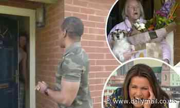 Andi Peters has the door slammed in his face by £3k prize winner's shirtless partner