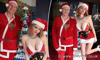 Gabi Grecko posts bizarre Christmas-themed throwback photos of herself and Geoffrey Edelstein