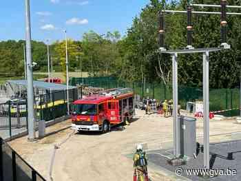 Brandweer blust onzichtbare brand in hoogspanningsstation El... (Mortsel) - Gazet van Antwerpen