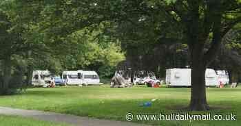Police 'taking action' on traveller camp at Hull's West Park - Hull Live