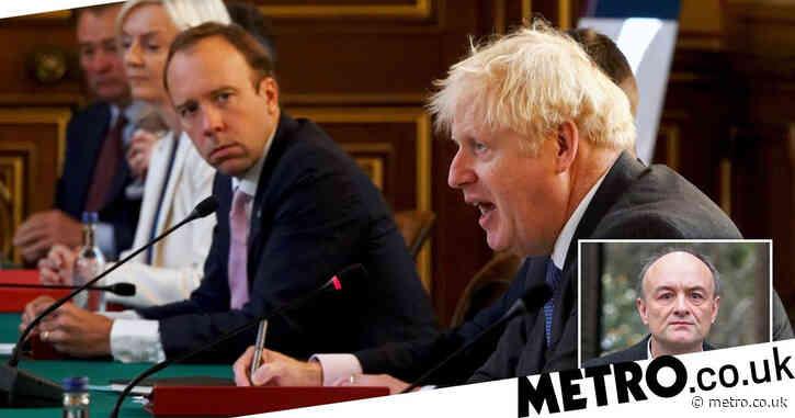 "Boris 'called Matt Hancock ""totally f***ing hopeless"" in private WhatsApp message'"