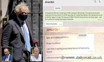 Dominic Cummings posts bombshell WhatsApp message from Boris Johnson