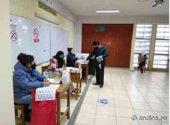 Segunda vuelta: se normaliza instalación de mesas en Huancayo luego de lluvia intensa - Agencia Andina
