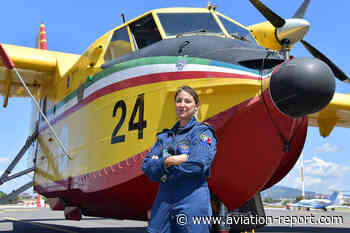 A Ciampino per scoprire da vicino i velivoli antincendio Canadair dei Vigili del Fuoco, gestiti da Babcock, con la pilota Giulia Grigoletti - Aviation Report