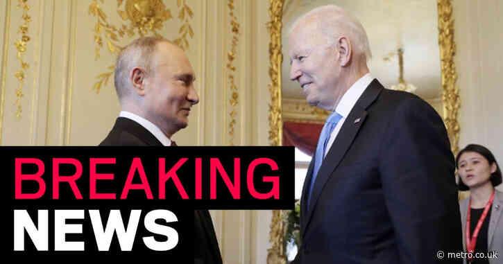 Joe Biden and Vladimir Putin arrive for crunch talks in Geneva