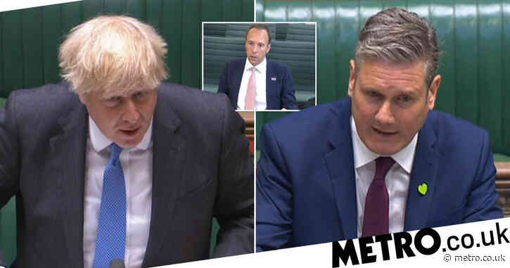 Keir Starmer fails to ask PM if he called Hancock 'f***ing hopeless'